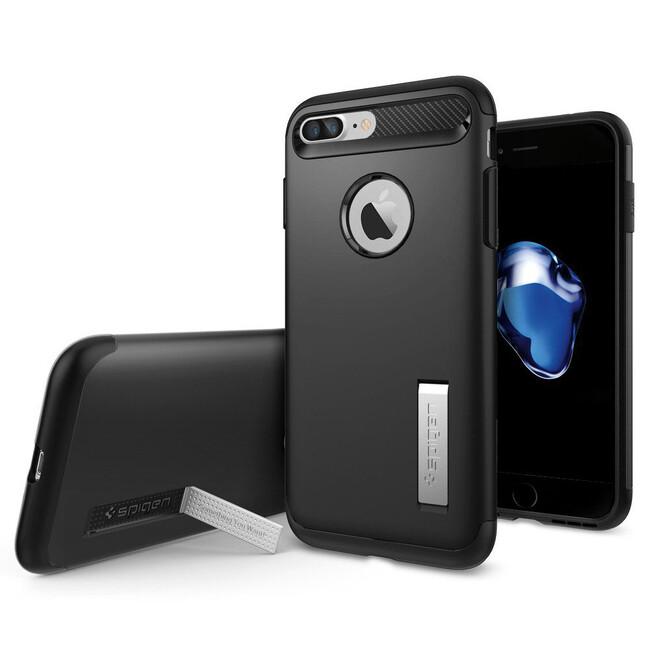 Чехол Spigen Slim Armor Black для iPhone 7 Plus