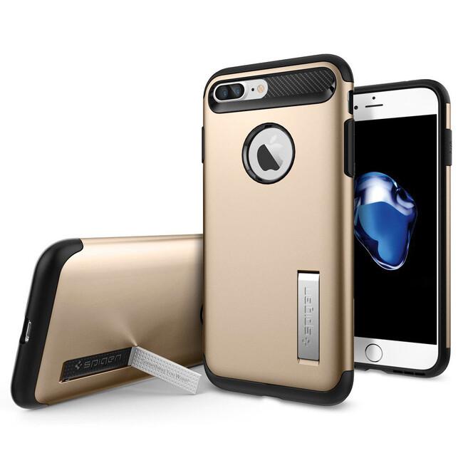 Чехол Spigen Slim Armor Champagne Gold для iPhone 7 Plus