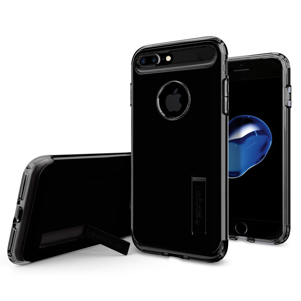 Чехол Spigen Slim Armor Jet Black для iPhone 7 Plus/8 Plus