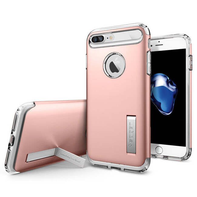 Чехол Spigen Slim Armor Rose Gold для iPhone 7 Plus