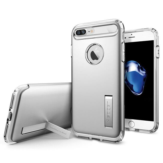 Чехол Spigen Slim Armor Satin Silver для iPhone 7 Plus