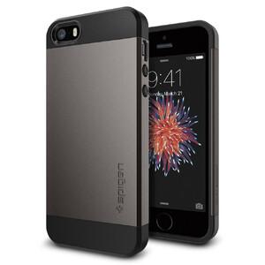 Купить Чехол Spigen Slim Armor Gunmetal для iPhone SE/5S/5