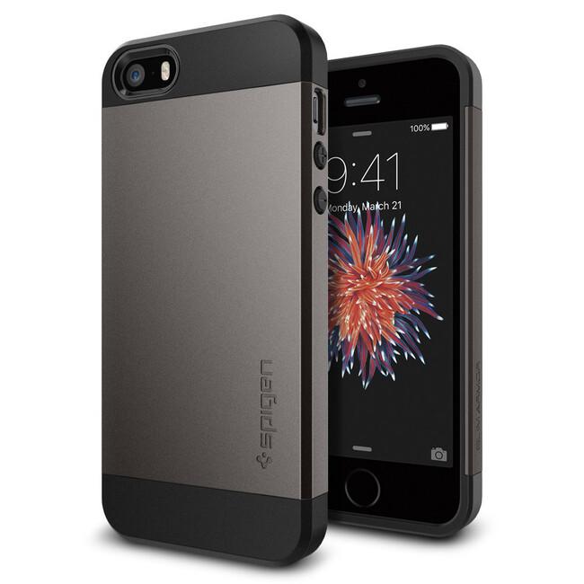 Чехол Spigen Slim Armor Gunmetal для iPhone SE/5S/5