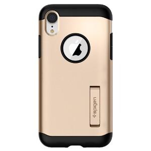 Купить Противоударный чехол Spigen Slim Armor Champagne Gold для iPhone XR