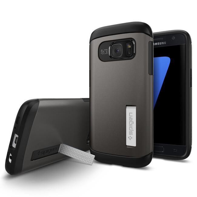 Чехол Spigen Slim Armor Gunmetal для Samsung Galaxy S7