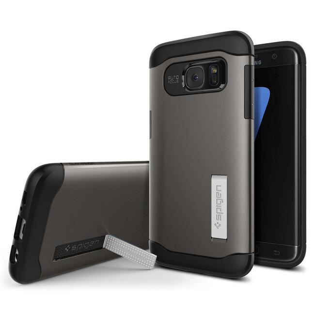 Чехол Spigen Slim Armor Gunmetal для Samsung Galaxy S7 edge
