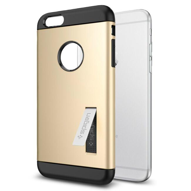Чехол Spigen Slim Armor Champagne Gold для iPhone 6/6s Plus