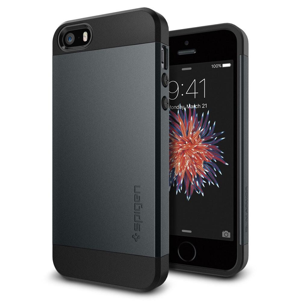 Чехол Spigen Slim Armor Metal Slate для iPhone SE/5S/5