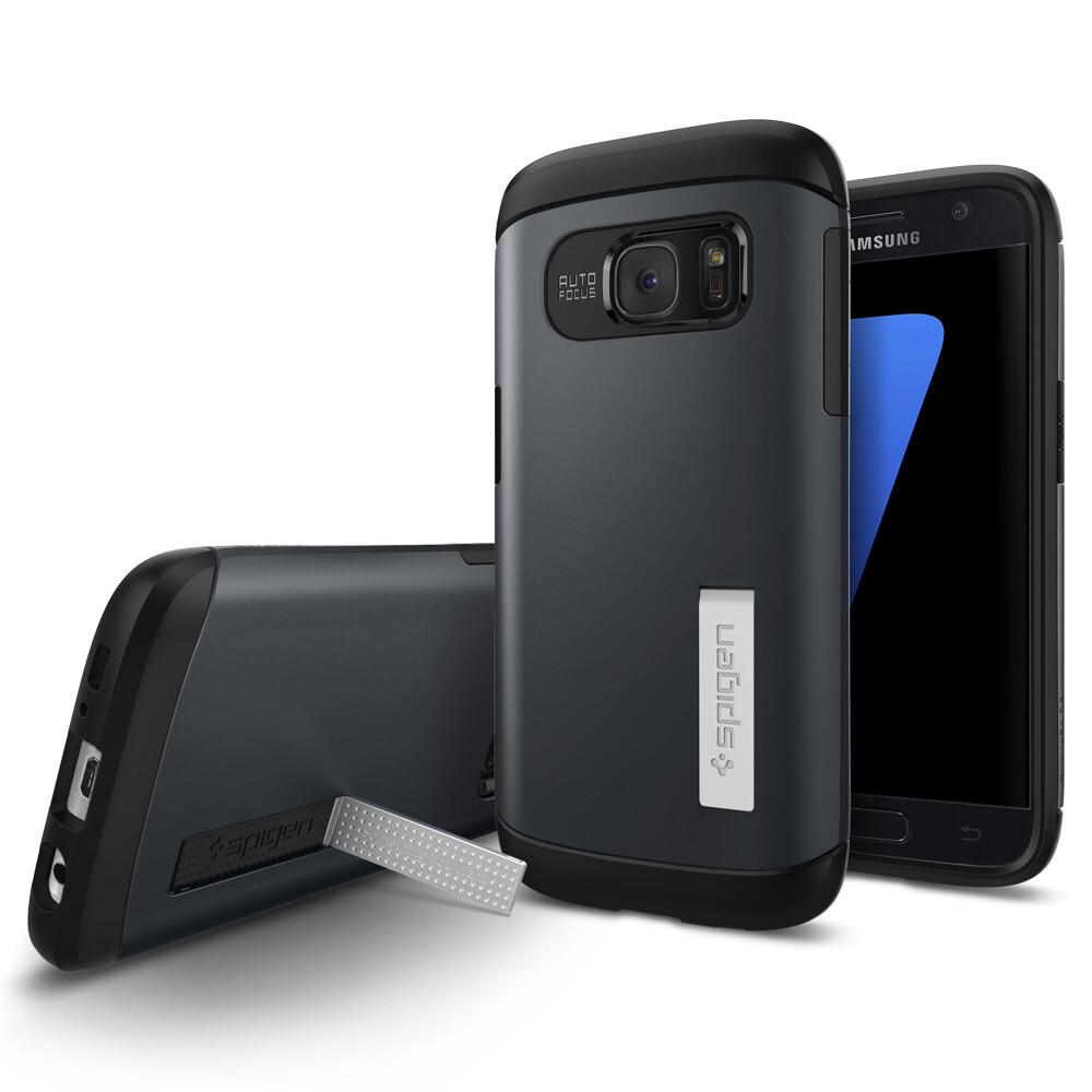 Чехол Spigen Slim Armor Metal Slate для Samsung Galaxy S7