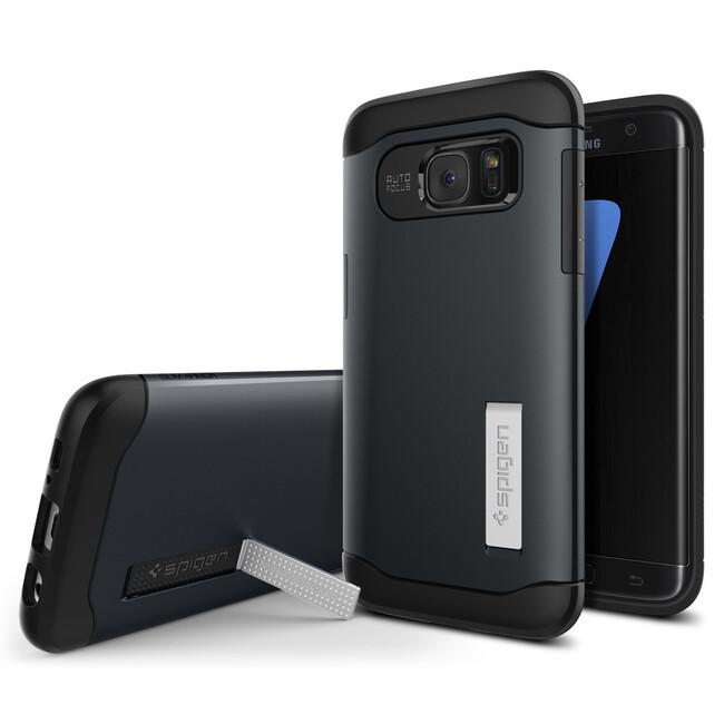 Чехол Spigen Slim Armor Metal Slate для Samsung Galaxy S7 edge