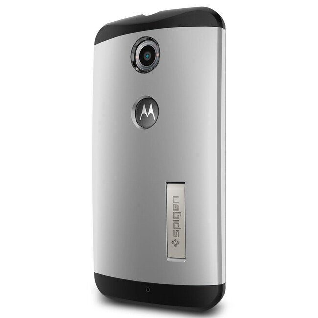 Чехол Spigen Slim Armor Satin Silver для Motorola Nexus 6