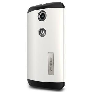 Купить Чехол Spigen Slim Armor Shimmery White для Motorola Nexus 6