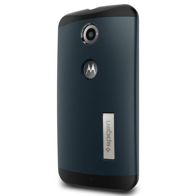Чехол Spigen Slim Armor Metal Slate для Motorola Nexus 6