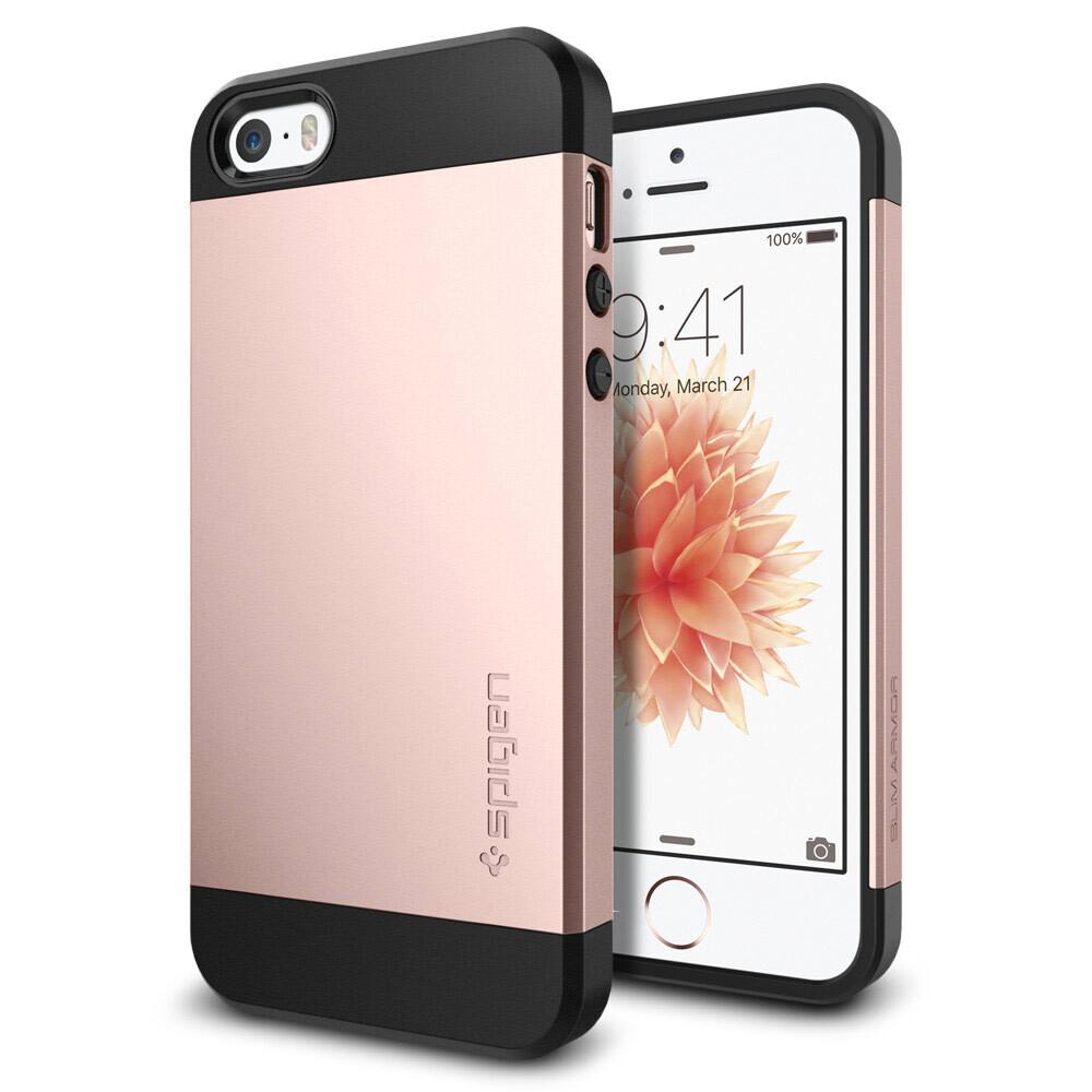 Чехол Spigen Slim Armor Rose Gold для iPhone SE/5S/5
