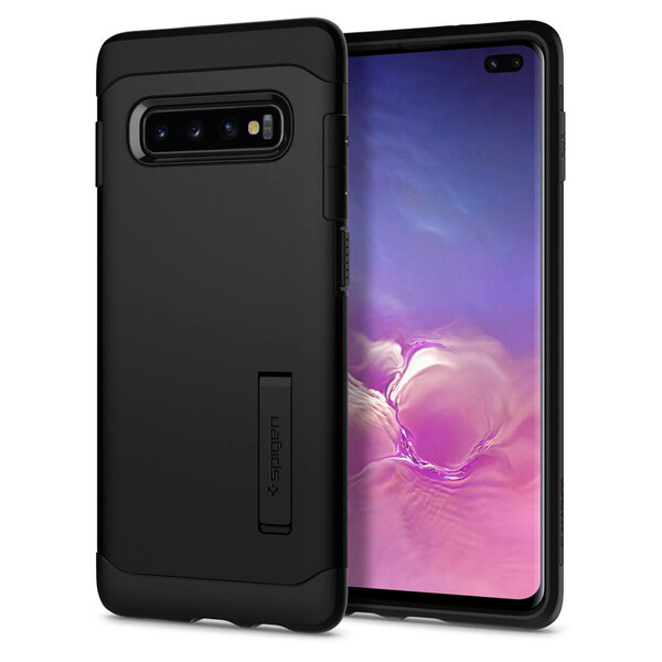 Чехол Spigen Slim Armor Black для Samsung Galaxy S10 Plus