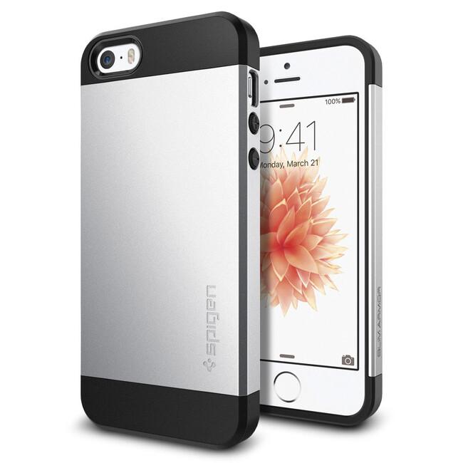 Чехол Spigen Slim Armor Satin Silver для iPhone SE/5S/5