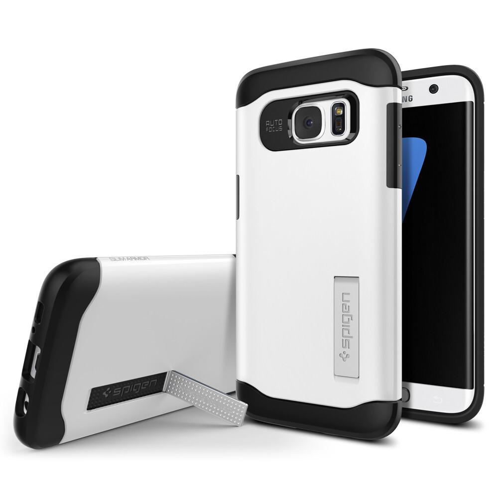 Чехол Spigen Slim Armor Shimmery White для Samsung Galaxy S7 edge