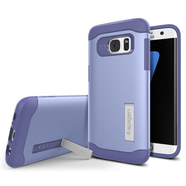 Чехол Spigen Slim Armor Violet для Samsung Galaxy S7 edge