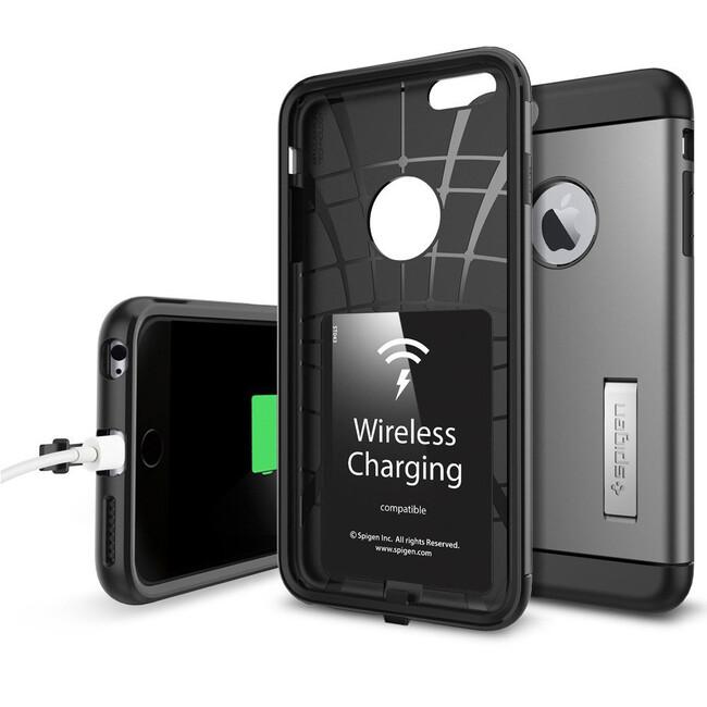 Чехол с беспроводной зарядкой Spigen Slim Armor Volt для iPhone 6/6s Plus