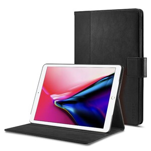 """Купить Кожаный чехол Spigen Stand Folio Black для iPad 9.7""""(2017/2018)/Air"""