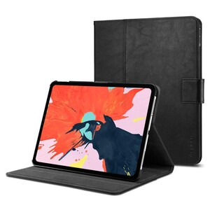 """Купить Кожаный чехол Spigen Stand Folio Black для iPad Pro 11"""""""