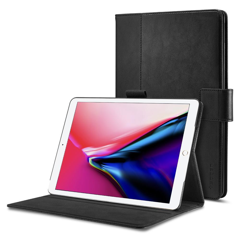 """Купить Кожаный чехол Spigen Stand Folio Black для iPad Pro 12.9"""" (2 поколение)"""
