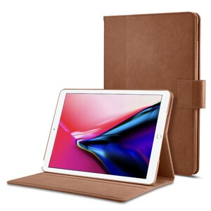 """Купить Кожаный чехол Spigen Stand Folio Brown для iPad 9.7""""(2017/2018)/Air"""