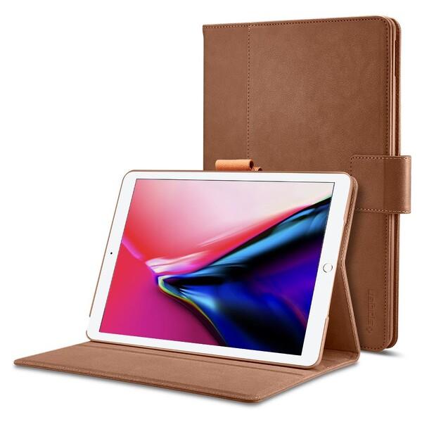 """Кожаный чехол Spigen Stand Folio Brown для iPad Pro 12.9"""" (2 поколение)"""