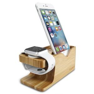 Купить Деревянная док-станция Spigen S370 для Apple Watch и iPhone