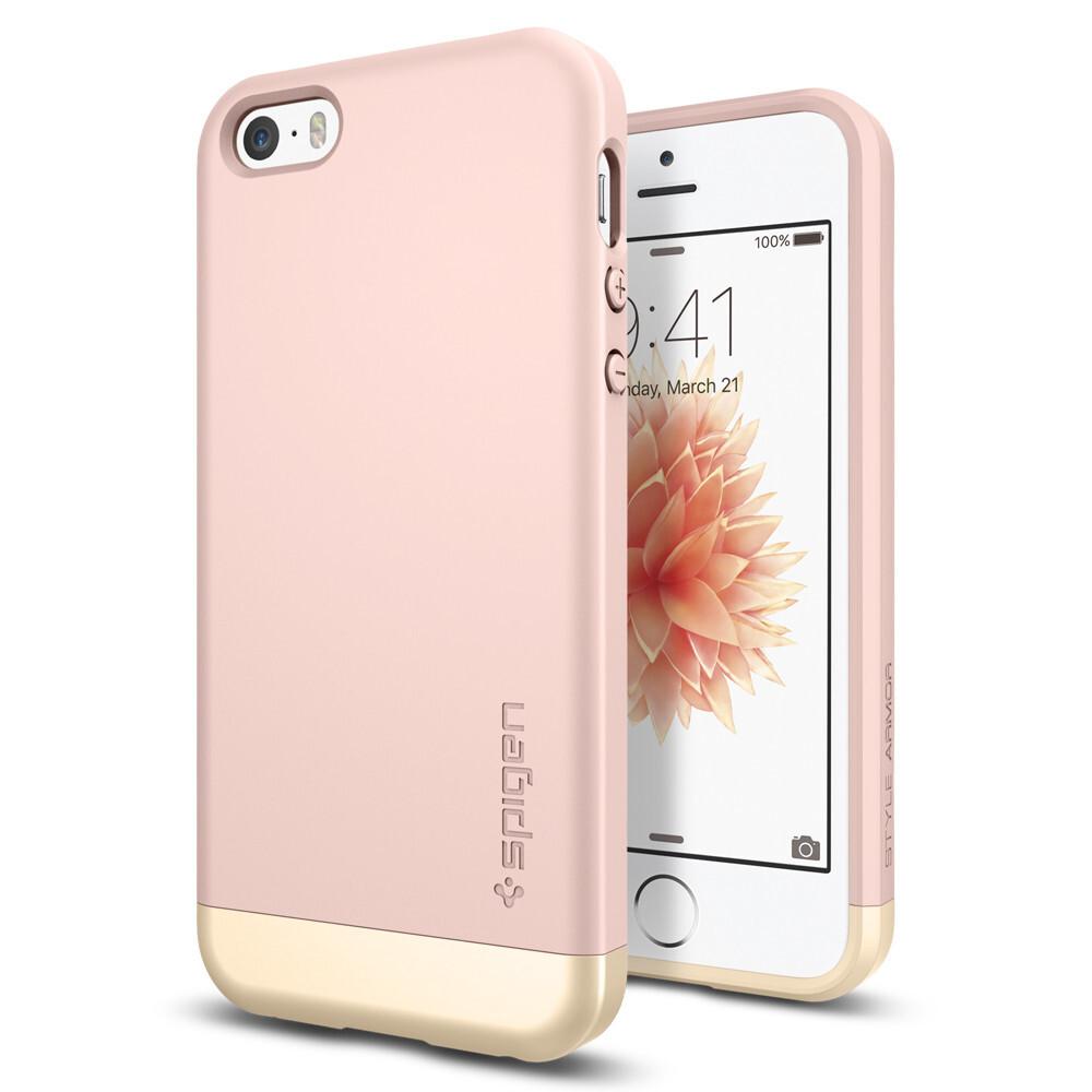 Чехол Spigen Style Armor Rose Gold для iPhone SE/5S/5