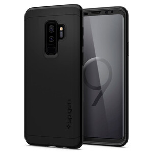 Купить Чехол с защитным стеклом Spigen Thin Fit 360 Black для Samsung Galaxy S9 Plus