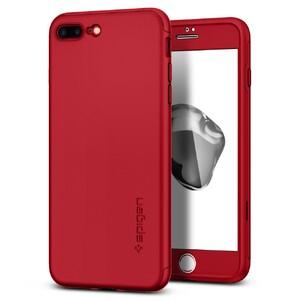 Купить Чехол с защитным стеклом Spigen Thin Fit 360 Red для iPhone 7 Plus/8 Plus