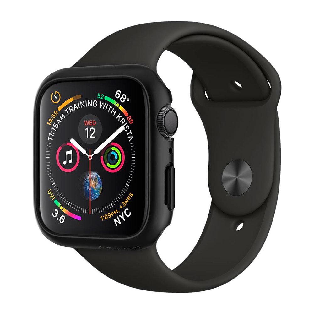Купить Чехол Spigen Thin Fit Black для Apple Watch 40mm SE | 6 | 5 | 4