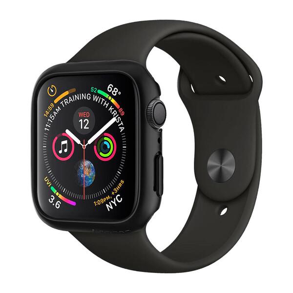 Чехол Spigen Thin Fit Black для Apple Watch 40mm SE   6   5   4