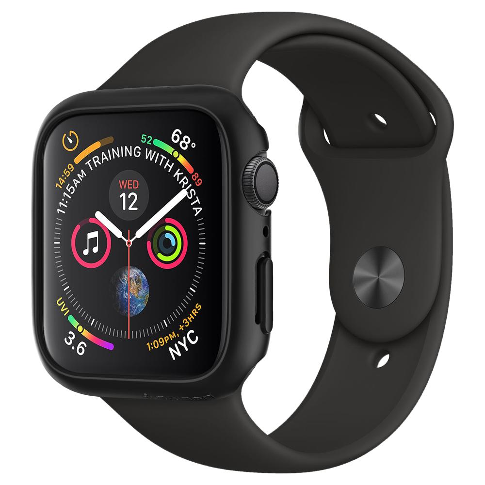 Купить Чехол Spigen Thin Fit Black для Apple Watch 44mm SE | 6 | 5 | 4