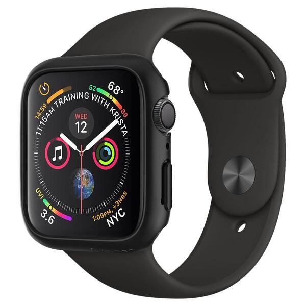 Чехол Spigen Thin Fit Black для Apple Watch 44mm SE | 6 | 5 | 4