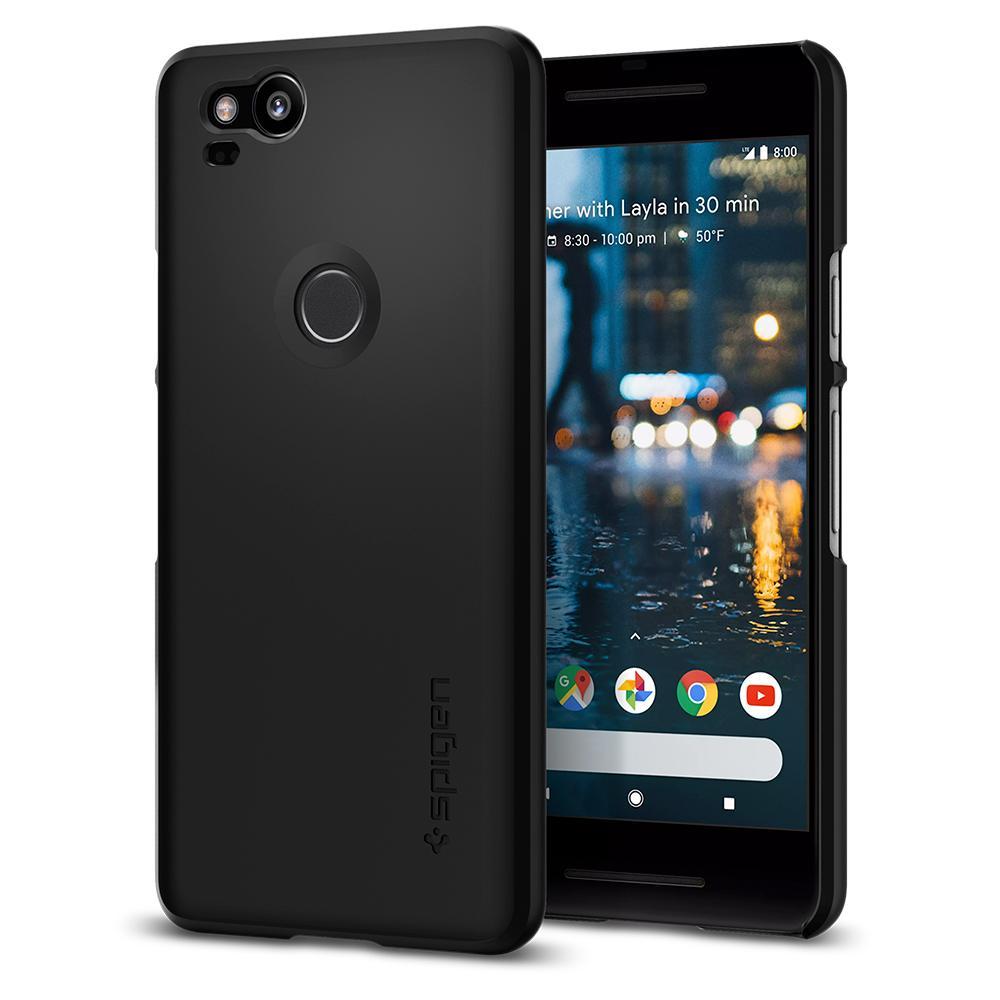 Купить Чехол Spigen Thin Fit Black для Google Pixel 2