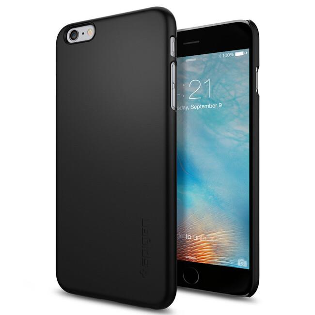 Чехол Spigen Thin Fit Black для iPhone 6/6s Plus