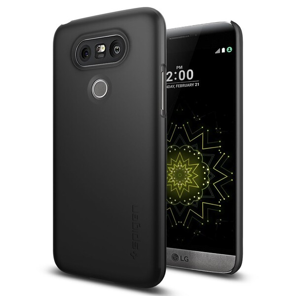 Чехол Spigen Thin Fit Black для LG G5