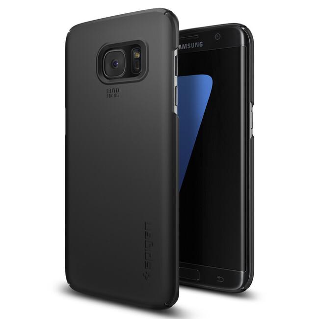 Чехол Spigen Thin Fit Black для Samsung Galaxy S7 edge