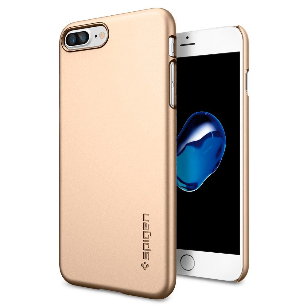 Чехол Spigen Thin Fit Champagne Gold для iPhone 7 Plus/8 Plus