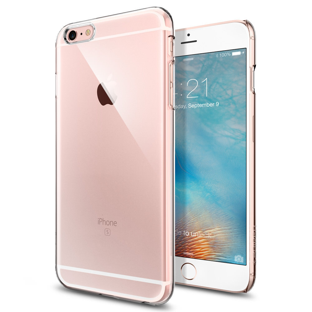 Чехол Spigen Thin Fit Crystal Clear для iPhone 6/6s Plus