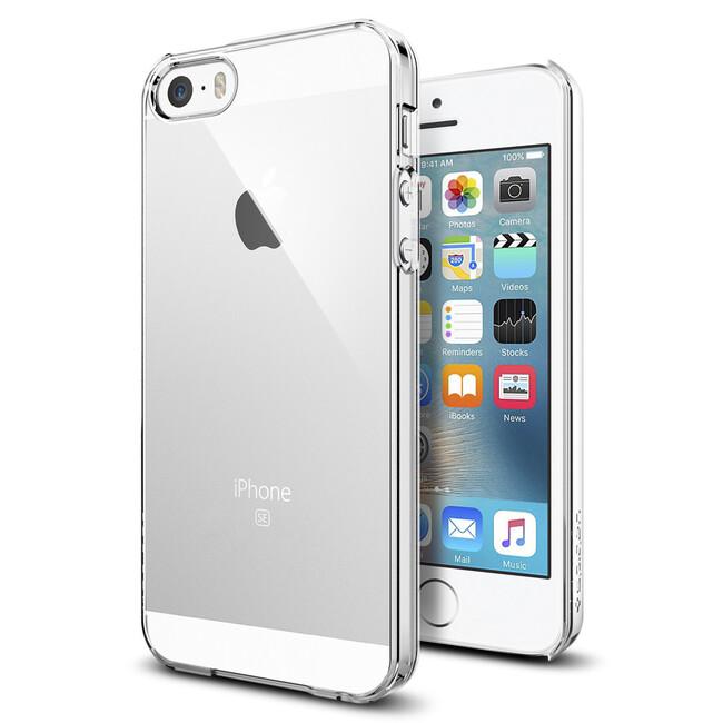 Чехол Spigen Thin Fit Crystal Clear для iPhone SE/5S/5