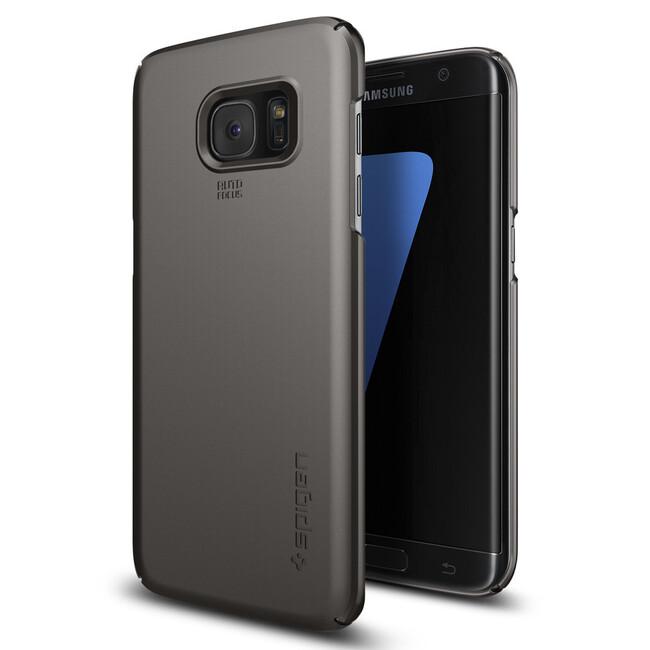 Чехол Spigen Thin Fit Gunmetal для Samsung Galaxy S7 edge