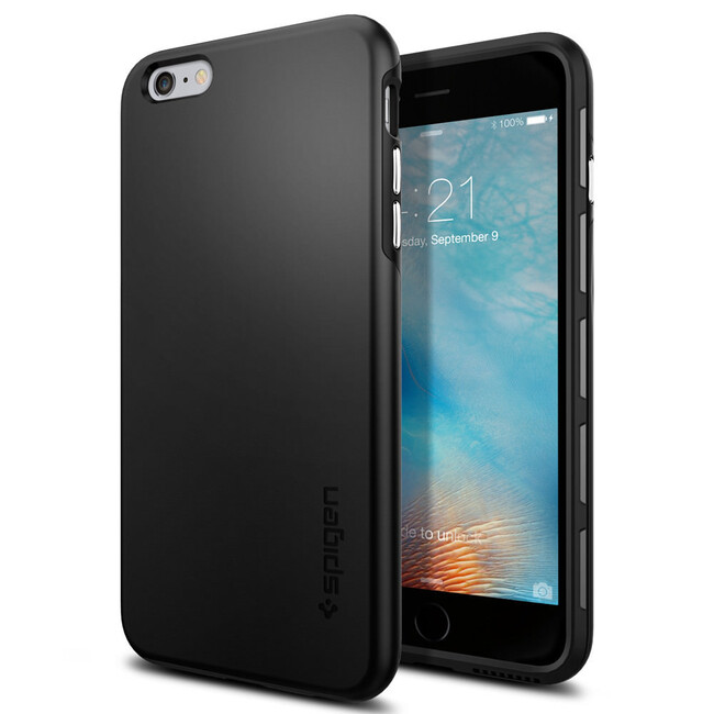 Чехол Spigen Thin Fit Hybrid Black для iPhone 6/6s Plus
