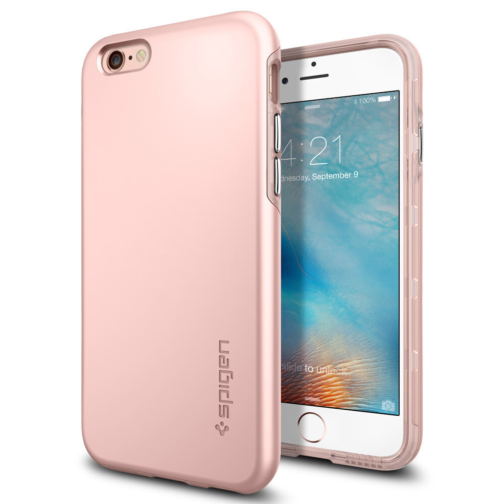 Чехол Spigen Thin Fit Hybrid Rose Gold для iPhone 6/6s