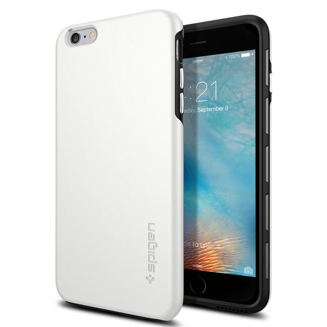 Чехол Spigen Thin Fit Hybrid White для iPhone 6/6s Plus