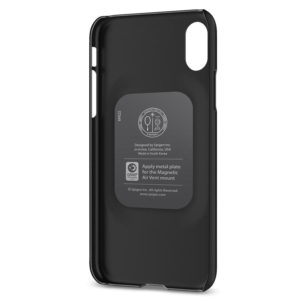 best cheap 437d1 d19a2 Чехол Spigen Thin Fit Matte Black для iPhone X/XS с магнитом