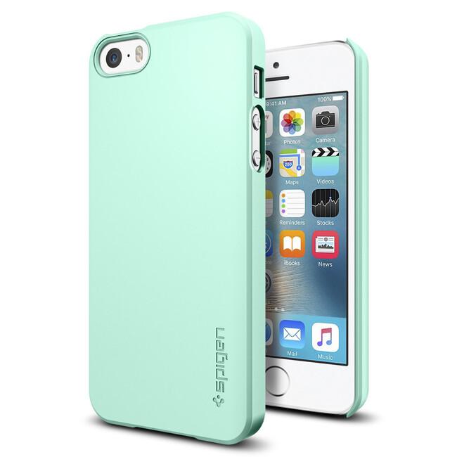 Чехол Spigen Thin Fit Mint для iPhone SE/5S/5