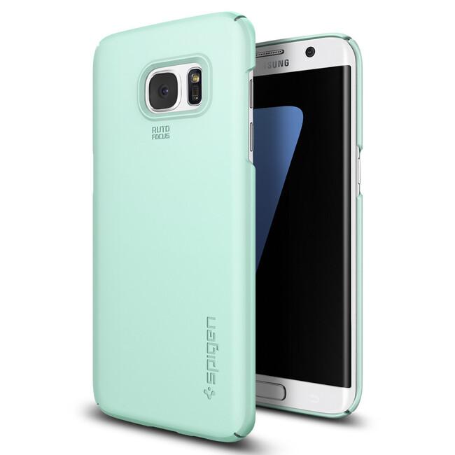 Чехол Spigen Thin Fit Mint для Samsung Galaxy S7 edge